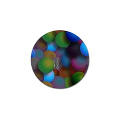 Multicolored Patterned Spheres 3d Golf Ball Marker
