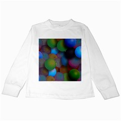 Multicolored Patterned Spheres 3d Kids Long Sleeve T Shirts