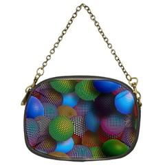 Multicolored Patterned Spheres 3d Chain Purses (two Sides)