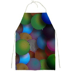 Multicolored Patterned Spheres 3d Full Print Aprons