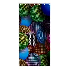 Multicolored Patterned Spheres 3d Shower Curtain 36  X 72  (stall)