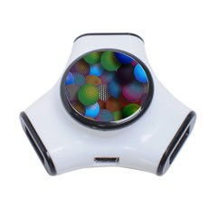 Multicolored Patterned Spheres 3d 3 Port Usb Hub
