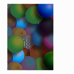Multicolored Patterned Spheres 3d Small Garden Flag (two Sides)