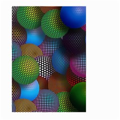 Multicolored Patterned Spheres 3d Large Garden Flag (two Sides)