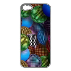 Multicolored Patterned Spheres 3d Apple Iphone 5 Case (silver)