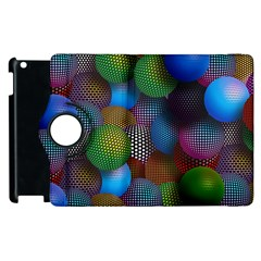 Multicolored Patterned Spheres 3d Apple Ipad 3/4 Flip 360 Case
