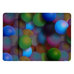 Multicolored Patterned Spheres 3d Samsung Galaxy Tab 10 1  P7500 Flip Case