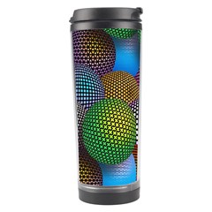 Multicolored Patterned Spheres 3d Travel Tumbler