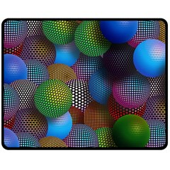 Multicolored Patterned Spheres 3d Double Sided Fleece Blanket (medium)