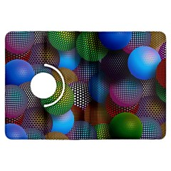 Multicolored Patterned Spheres 3d Kindle Fire Hdx Flip 360 Case