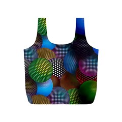 Multicolored Patterned Spheres 3d Full Print Recycle Bags (s)