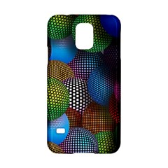 Multicolored Patterned Spheres 3d Samsung Galaxy S5 Hardshell Case