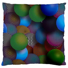 Multicolored Patterned Spheres 3d Standard Flano Cushion Case (one Side)