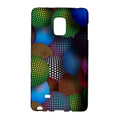 Multicolored Patterned Spheres 3d Galaxy Note Edge