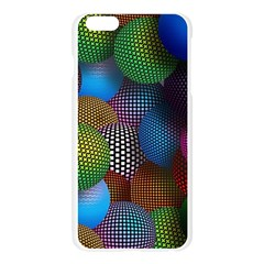 Multicolored Patterned Spheres 3d Apple Seamless iPhone 6 Plus/6S Plus Case (Transparent)
