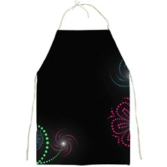 Neon Flowers And Swirls Abstract Full Print Aprons
