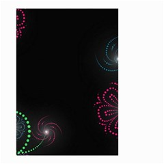 Neon Flowers And Swirls Abstract Small Garden Flag (two Sides)
