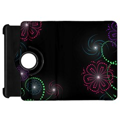 Neon Flowers And Swirls Abstract Kindle Fire Hd 7