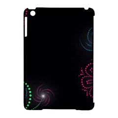 Neon Flowers And Swirls Abstract Apple Ipad Mini Hardshell Case (compatible With Smart Cover)