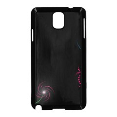 Neon Flowers And Swirls Abstract Samsung Galaxy Note 3 Neo Hardshell Case (black)