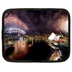 New Year's Evein Sydney Australia Opera House Celebration Fireworks Netbook Case (large)
