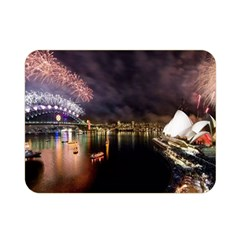 New Year's Evein Sydney Australia Opera House Celebration Fireworks Double Sided Flano Blanket (mini)