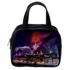 New Year New Year's Eve In Salzburg Austria Holiday Celebration Fireworks Classic Handbags (one Side)