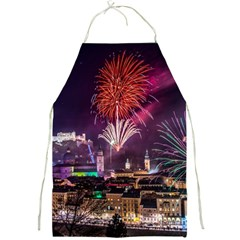 New Year New Year's Eve In Salzburg Austria Holiday Celebration Fireworks Full Print Aprons