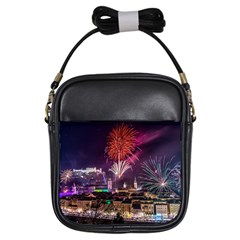 New Year New Year's Eve In Salzburg Austria Holiday Celebration Fireworks Girls Sling Bags