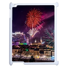 New Year New Year's Eve In Salzburg Austria Holiday Celebration Fireworks Apple Ipad 2 Case (white)