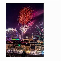 New Year New Year's Eve In Salzburg Austria Holiday Celebration Fireworks Large Garden Flag (two Sides)