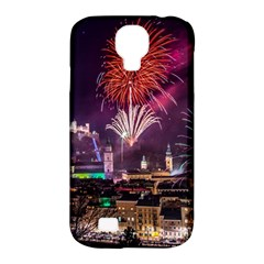 New Year New Year's Eve In Salzburg Austria Holiday Celebration Fireworks Samsung Galaxy S4 Classic Hardshell Case (pc+silicone)
