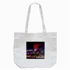 New Year New Year's Eve In Salzburg Austria Holiday Celebration Fireworks Tote Bag (white)