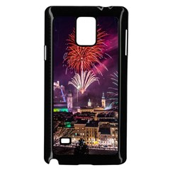 New Year New Year's Eve In Salzburg Austria Holiday Celebration Fireworks Samsung Galaxy Note 4 Case (black)