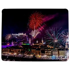 New Year New Year's Eve In Salzburg Austria Holiday Celebration Fireworks Jigsaw Puzzle Photo Stand (Rectangular)