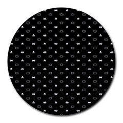 Space Black Round Mousepads