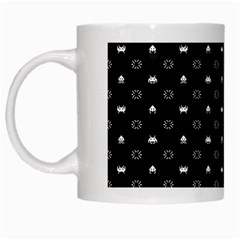 Space Black White Mugs