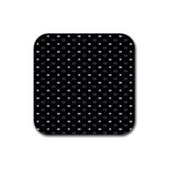Space Black Rubber Square Coaster (4 pack)