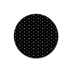 Space Black Rubber Coaster (Round)