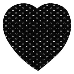 Space Black Jigsaw Puzzle (Heart)