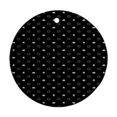 Space Black Round Ornament (Two Sides)