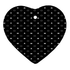 Space Black Heart Ornament (Two Sides)