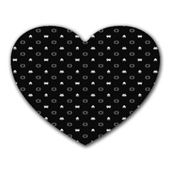 Space Black Heart Mousepads