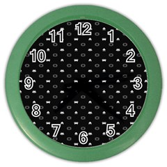 Space Black Color Wall Clocks