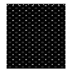 Space Black Shower Curtain 66  x 72  (Large)