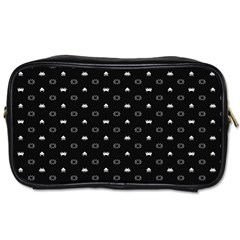 Space Black Toiletries Bags 2-Side