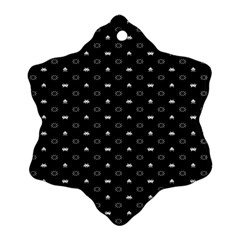Space Black Snowflake Ornament (Two Sides)