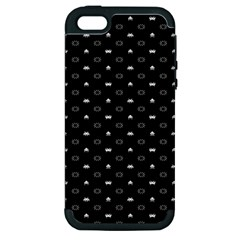 Space Black Apple iPhone 5 Hardshell Case (PC+Silicone)