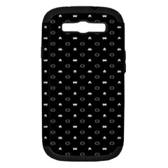 Space Black Samsung Galaxy S III Hardshell Case (PC+Silicone)