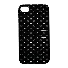 Space Black Apple iPhone 4/4S Hardshell Case with Stand